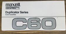MAXELL C60 Prof Industrial P/I Duplicator Series Audio Cassettes, Case of 20