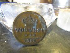 piece monnaie italie italia due 2 tornesi 1858 bronze 4