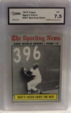 1970 TOPPS AGEE'S CATCH SPORTING NEWS CARD #307- GRADED 7.5 NM+