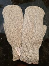Wool Mittens Gray Lined Large NWT--Warm and Durable, Vintage