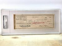 1937 Mae West Signed Check PSA/DNA AUTO Autographed To Larry Lee Personal Asst