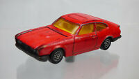 Vintage Red Corgi Ford Capri Diecast Red Toy Model Car Made in Great Britain