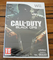Jeu CALL OF DUTY BLACK OPS pour Nintendo Wii PAL NEUF SOUS BLISTER !