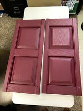14.75 in. x 34.75 in. Vinyl Raised Panel Shutters - Wineberry - Set of 2