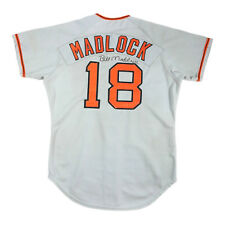 BILL MADLOCK 1977 SIGNED SAN FRANCISCO GIANTS GAME USED WORN GRAY ROAD JERSEY