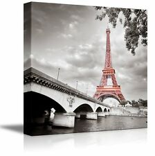 "Canvas Prints Wall Art - Eiffel Tower in Paris, France  Wall Decor- 24"" x 24"""