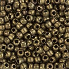 Toho Redondo Talla 3/0 Japoneses Semilla Cuentas Oro Antiguo De Bronce Tubo 19.5g (L94/4)