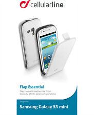 Cellularline Samsung Galaxy S3 Mini Solapa Essentials Funda Protectora Blanco