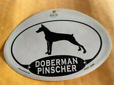 Euro Doberman Pinscher Oval Decal