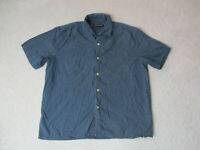 VINTAGE Ralph Lauren Polo Jeans Button Up Shirt Adult Medium Blue White Mens 90s
