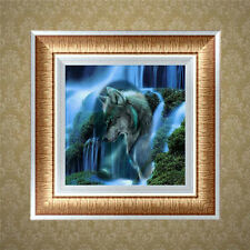Waterfall DIY 5D Diamond Embroidery Painting Wolf Cross Stitch Craft Home Decor