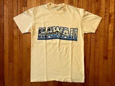 VINTAGE 80s HAWAII SOUVENIR T-SHIRT MADE IN THE USA SINGLE STITCH POLY TEES 70s