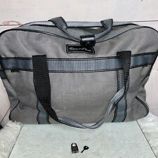 Vintage Oscar De La Renta Gray Shoulder Duffle Bag