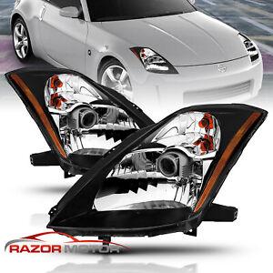 Anzo USA Crystal Headlights Black for Nissan 350Z 2003-2005