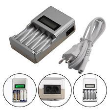 Universal 4 Akku Ladegerät,Batterien mit blauem LCD-Display Schnelladegerät