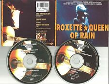 ROXETTE Queen of Rain Europe 2 CD Single Set USA Seller LIVE & EDIT & INTERVIEW