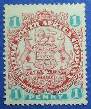 1896 RHODESIA 1d SCOTT# 27a S.G.# 29 UNUSED                              CS09614