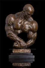 West Pure Bronze Marble Home Deco Art Sculpture Figurine Male Figurine