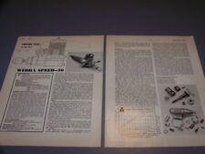 VINTAGE..WEBRA SPEED 20 AIRCRAFT R/C ENGINE..1-VIEWS/GRAPHS/SPECS..RARE! (729P)
