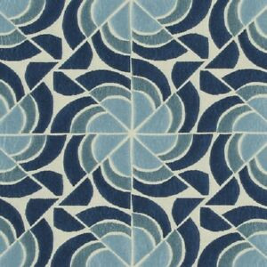 Knoll Biscayne Blue Modern Upholstery Fabric Free Shipping! BTY SF1761