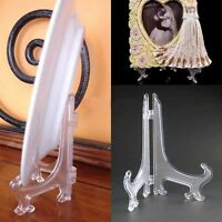 "HQ Fashion Clear Plastic Plate Display Stand Picture Frame Easel Holder 3""5""7""9"""