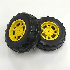 Peg Perego Gator XUV Front Wheels, Black w/Yellow Centers ~ Free Shipping ~