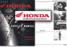Honda VFR800 VTec Service Workshop Manual VFR 800 V-tec 2002 onwards Shop RC46