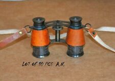Set Of 10 Pieces Vintage Brass Binocular W/ leather strip Binocular Spyglass