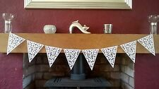 White Lace Effect Bunting Garland Banner Party White Wedding Decoration 2m