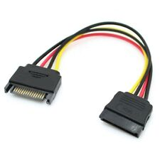 8 Inches Male to Female 15 Pin 15P SATA Power Extension Cable Cool