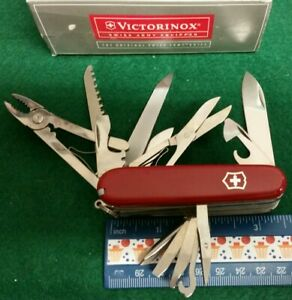 Victorinox Craftsman Knife, Red handles, 24 function, 53721, new in box