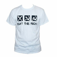 Class War Eat The Rich T shirt Political Anarchist Unisex Top Sizes S M L XL XXL