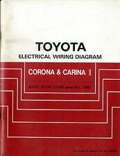 1983 TOYOTA CORONA CARINA II AT151 CT150 CT ELECTRICAL WIRING DIAGRAM SCHALTPLAN