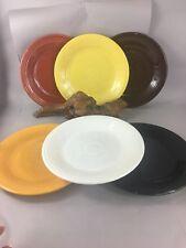 Vintage Fiesta ware H L C 10 1/2 plates lot of 6