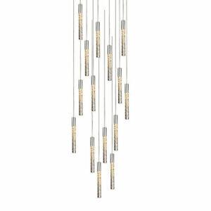 "New Modern Forms Magic LED 23"" Polished Nickel Chandelier Light PD-35615-PN"