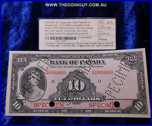 1935 Canadian Ten Dollar Specimen Rare