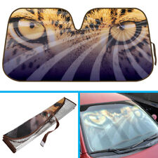 Hypnotic Leopard Eyes Auto Sun Shade - for Car SUV Van Windshield Sunshade Visor