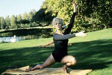 Linda Thorson yoga pose on lawn The Avengers 11x17 Mini Poster