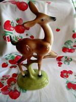 "Vintage 50's Artistic Potteries California 13"" Deer Figurine Statue"