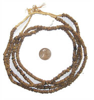 Natural Plant Seed Beads 2 Strands 4mm West Africa African Brown Wood Large Hole