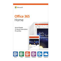 Microsoft Office 365 Home 6 PC / Mac 1-Year Medialess Product Key Card 6GQ-01028