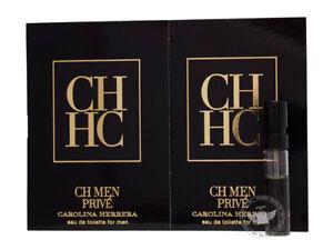 Perfume Vials (Trial Size) ~ CH Men Prive by Carolina Herrera 1.5ml Edt Spray x2