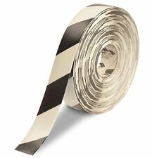 New listing Mighty Line Diagonal Floor Tape 2 inch Black/White 100' Roll