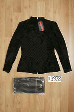 BALMAIN H&M Black Silk-Blend Velvet Blouse Top - UK10 US6 EU36 - New with Tags!