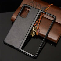 For Samsung Galaxy Z Fold2 5G Shockproof Fashion Leather Case Cover Shell Skin