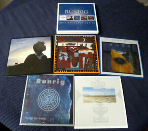 5xCD Runrig The Cutter & The Clan Searchlight The Big Wheel Amazing Things Mara