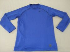 Mens Nike Pro Sweater Xl Fitted Blue Athletic Gym Workout