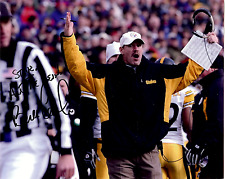 BILL COWHER Hand Signed Photo 8 x 10 Color Authentic Autograph To Steve