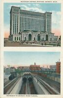 DETROIT MI – Michigan Central Station and Detroit River Tunnel Entrance - 1922