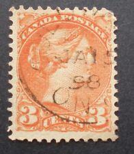 1870-97 3¢ Vermillion Small Queen Victoria SC #37/41 DATED JA 15 1898